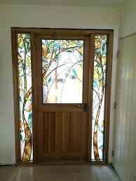 stained glass front door doors oak with hand made stain panels stained glass front door windows for doors uk