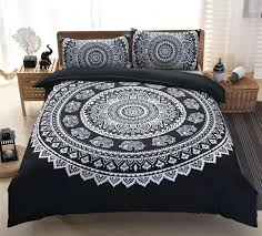 black and white bed sheets 1 mandala bedding sets bohemian duvet cover covers bedrooms