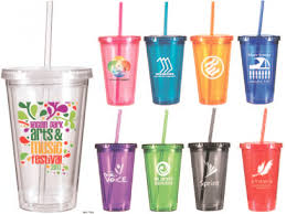 custom tumbler glasses with lids and straws