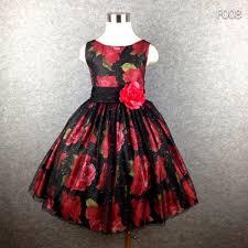 Brand <b>girl</b> party <b>dress</b> black tutu flower print big bow <b>summer dress</b> ...