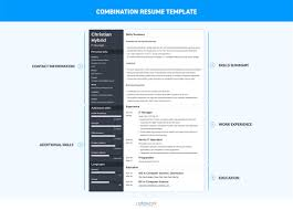 Combination Resume Template Infographic Vintage Combination Format