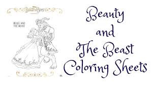 Small Picture and The Beast Coloring Sheets