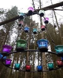 2 of 12 tea light chandelier double tier by bell tent boutique