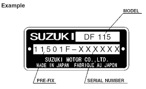 Suzuki Outboard Serial Number Location And Model
