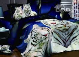 bedroom new arrival cool white tigers print 4 piece bedding sets tiger for awesome property bed