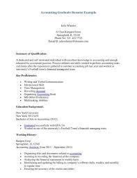 Accounting Graduate Resume Resume Sample