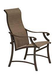 high back outdoor patio chair