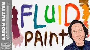 fluid paint webgl realistic liquid paint app