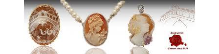 shell italian cameos brooch pendant