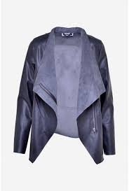 more views cubs waterfall leather jacket