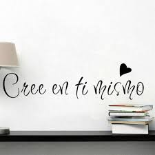 Spanish And French Quotes Believe In Yourself Wall Stickers Vinyl Removable Wall Sticker For Living Room Decoration
