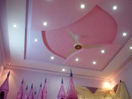 ceiling fan pop design pop ceiling design with pink ceiling fan and color for girls bedroom