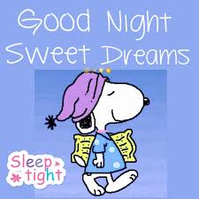 good night sweet dreams with snoopy