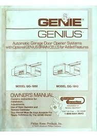 genie garage door opener installation instructions genie garage door opener installation manual genie garage door manual