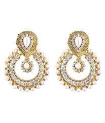 jewels gold golden cz chandelier earrings