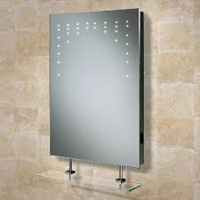 HiB Rain LED Illuminated Bathroom Mirror with Shelf