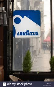 Outside Bar Lavazza Coffee Illuminated Sign Outside Bar In Brussels Belgium
