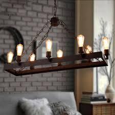 industrial inspired lighting. 8 Light Wrought Iron Industrial Style Lighting Fixtures Inspired