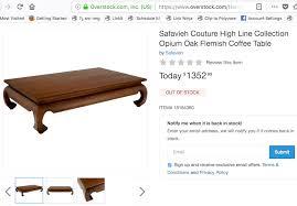 safavieh opium rectangular coffee table 135