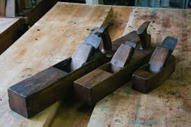 wooden try plane fore plane and smoothing plane