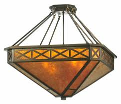 meyda 110803 amber mica diamond mission octagon lighting pendant 32 inches wide