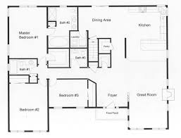 Exclusive Idea Modular Ranch Open Floor Plans 2 Ranch Style Open Floor Plans  With Basement