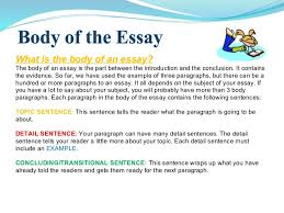 essay writing power point  what is the body of an essay
