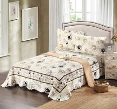 tache home fashion dsw019 cal king 3 piece cotton modern summer storm reversible bedspread quilt
