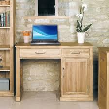 scribed oak effect home. Baumhaus Mobel Oak Single Pedestal Computer Desk | Morale Home Furnishings Scribed Effect