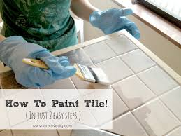 Tile Countertop Kitchen Livelovediy How To Paint Tile Countertops