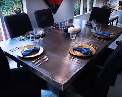 dining room table bastyle sheet zinc table tabletop aced  w h b p contemporary tabletop