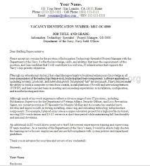 Cover Letter For Federal Job Federal Cover Letter Sample