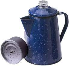 Be sure to place it on the highest point to avoid burning the coffee or making the water evaporate too fast. Amazon Com Gsi Outdoors 8 Cup Enamelware Percolator Coffee Pot For Campsite Cabin Rv Kitchen Groups Backpacking Camping Coffee And Tea Pots