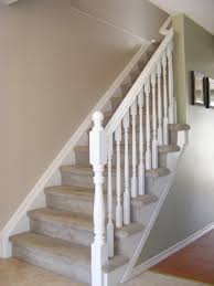 Painted Wood Stairs Simple White Stair Railing Decorating Pinterest White