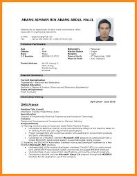 Resume Sample Pdf Malaysia Cv For Job Application Example Format