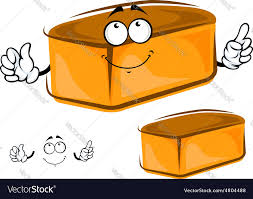 Funny Loaf Of White Bread Character Royalty Free Vector