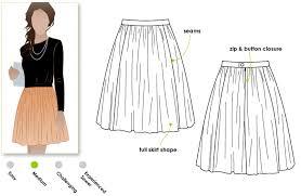 Dirndl Pattern Enchanting Margo Skirt Style Arc