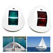 Red Side Light On Boat Details About 4pcs Red Green Led Navigation Lights White Plastic Boat Maritime Port Starboard