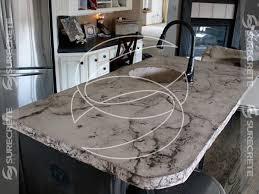 veined stone look concrete countertop
