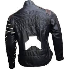 avengers infinity war winter solr bucky barnes leather jacket for men