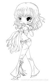 Britney Spears Chibi Lineart Slave 4