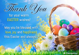 Thank You Easter Thank You For Warm Easter Wishes Free Thank You Ecards