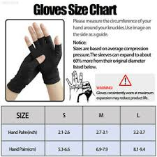 Copper Fit Gloves Size Chart Details About Copper Compression Gloves Arthritis Fit Carpal Tunnel Hand Wrist Brace Support H