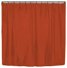 rust solid color stripes large shower curtain modern