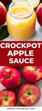 homemade crockpot applesauce recipe