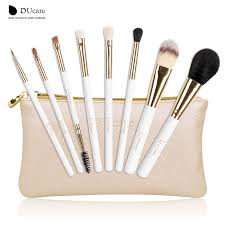 ducare professional makeup brush set 8pcs high quality makeup tools kit with bag super nice beauty essential brush set in makeup scissors from beauty