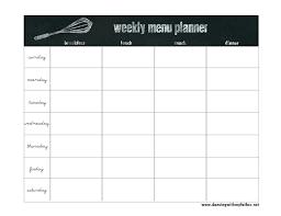 7 Day Menu Planner Template