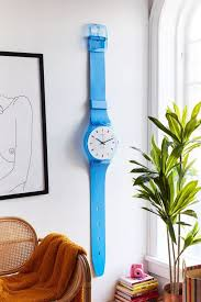 swatch maxi color square wall clock