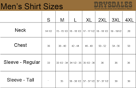 Size Chart Dress Shirt Men 76 Unusual Mens Dress Shirt Chart