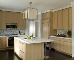 Dark Wood Kitchen Cabinets Light Wood Kitchen Cabinets Kitchen Mediterranean With Artwork